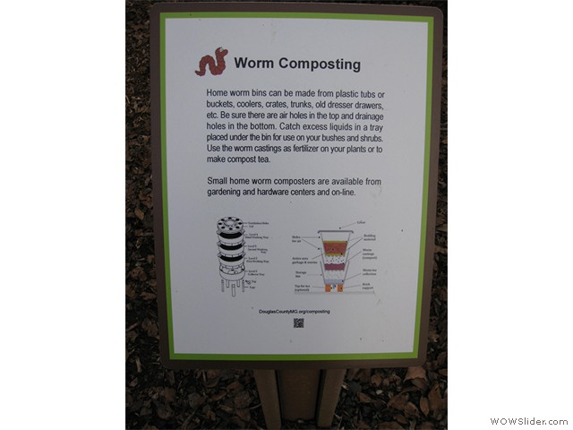 4-Worm Composting Sign